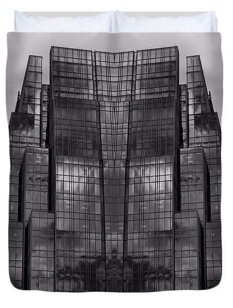 Architect's Dream Black And White Duvet Cover by Dan Sproul