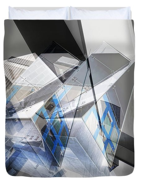 Architectural Abstract Duvet Cover by Wayne Sherriff