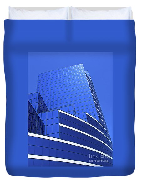 Architectural Blues Duvet Cover