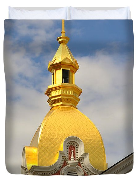 Architecture - Golden Cross Duvet Cover by Liane Wright
