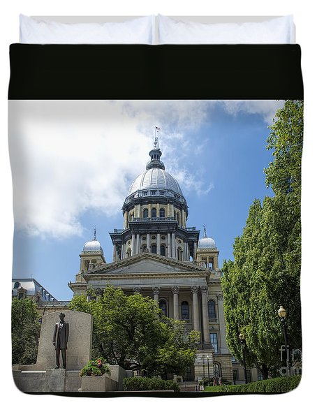 Architecture - Illinois State Capitol  - Luther Fine Art Duvet Cover by Luther Fine Art