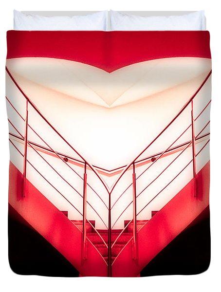 architecture's valentine - redI Duvet Cover by Hannes Cmarits