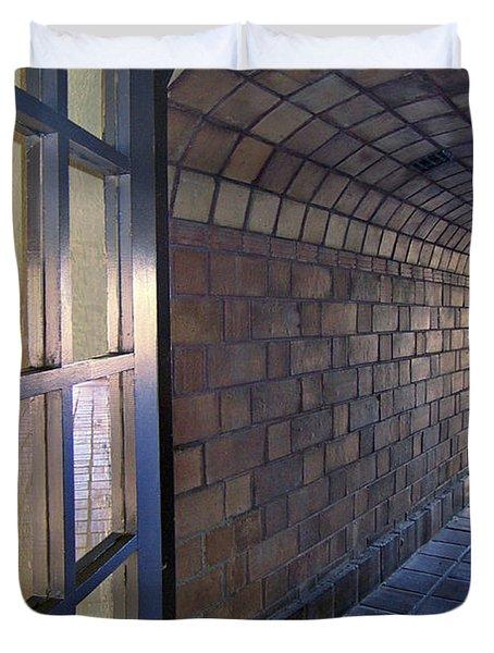 Archway In Mission Inn Riverside Duvet Cover