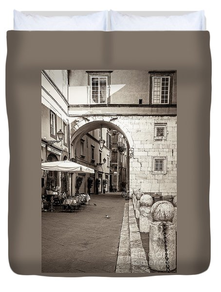 Archway Over Street Duvet Cover