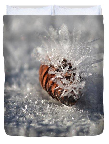 Arctic Pine Cone Porcupine Duvet Cover