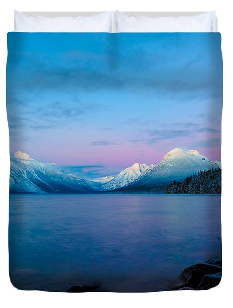 Duvet Cover featuring the photograph Arctic Slumber by Aaron Aldrich