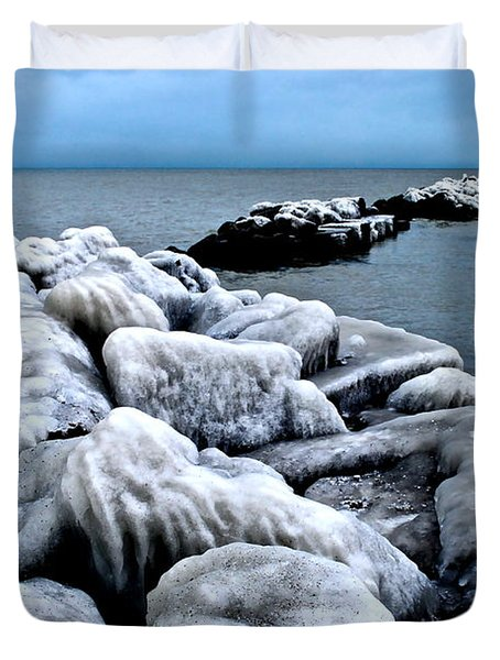 Arctic Waters Duvet Cover by Frozen in Time Fine Art Photography