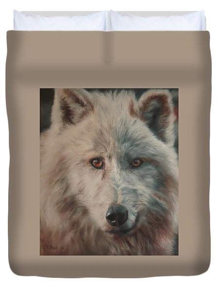 Arctic Wolf Duvet Cover by Cherise Foster