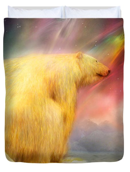 Arctic Wonders Duvet Cover by Carol Cavalaris