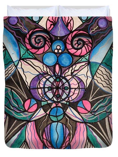 Arcturian Healing Lattice  Duvet Cover