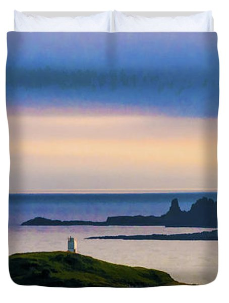 Ardtreck Point Lighthouse Duvet Cover