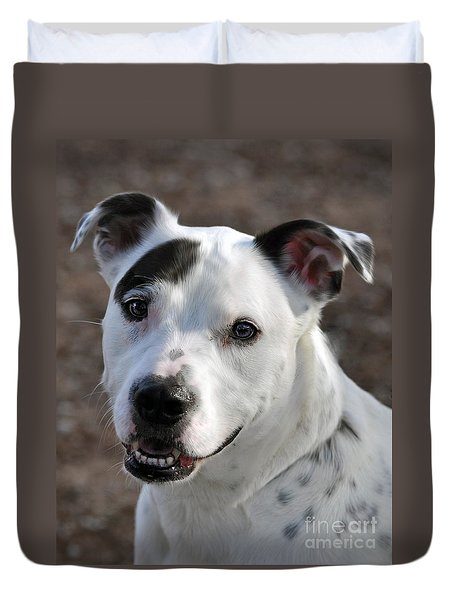 Duvet Cover featuring the photograph Are You Looking At Me? by Savannah Gibbs