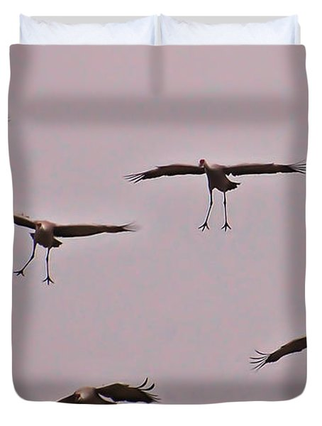 Duvet Cover featuring the photograph Are You Sure This Is The Spot by Don Schwartz