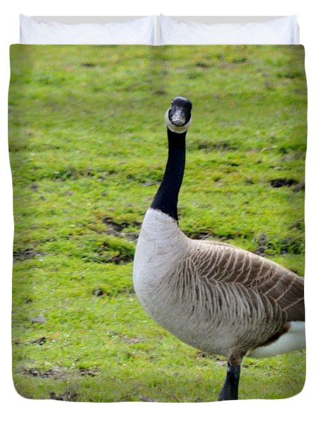 Are You Talking To Me Duvet Cover by Barbara Snyder