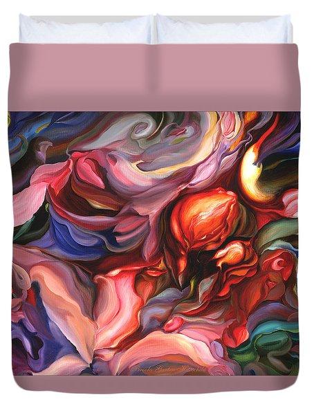 Aria - Acrylic On Canvas Duvet Cover