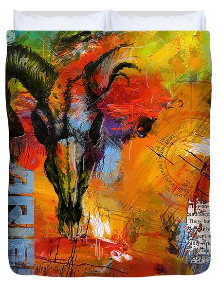 Aries Horoscope Duvet Cover by Corporate Art Task Force