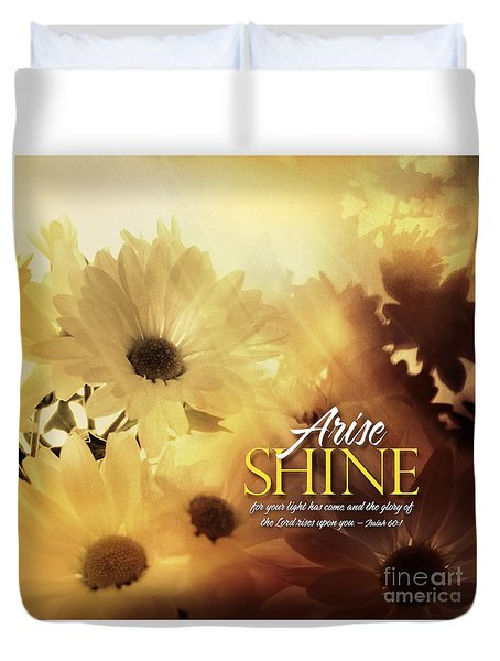 Arise Shine Duvet Cover
