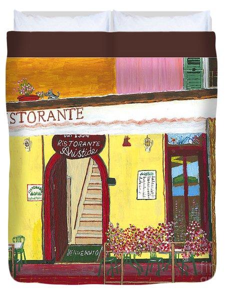 Aristede In Cinque Terra Duvet Cover