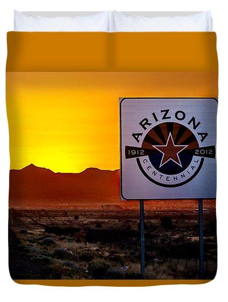 Arizona Centennial Duvet Cover