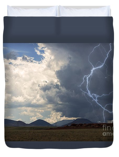 Arizona Desert Lightning  Duvet Cover