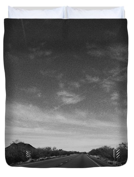 Arizona Highway 70 West Duvet Cover by Methune Hively