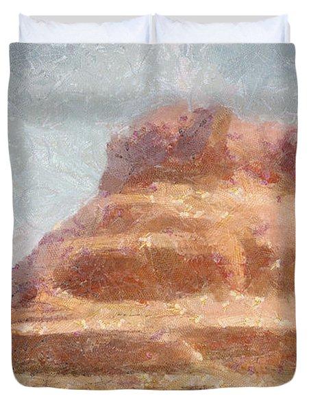 Arizona Mesa Duvet Cover by Jeff Kolker