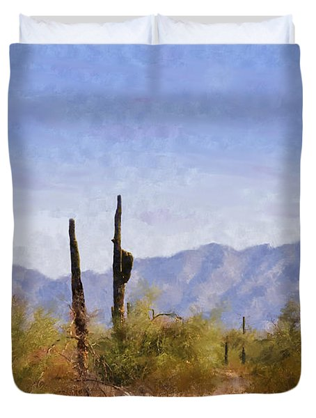 Arizona Sonoran Desert Duvet Cover by Betty LaRue