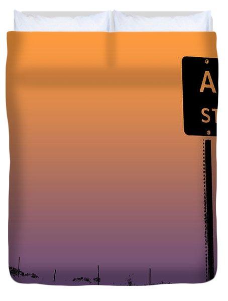 Arizona State Line Usa Duvet Cover by Janice Rae Pariza