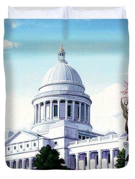 Arkansas Capitol Blossoms Duvet Cover