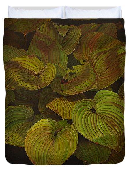 Arkansas Green Duvet Cover by Thu Nguyen