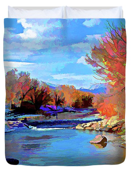Arkansas River In Salida Co Duvet Cover