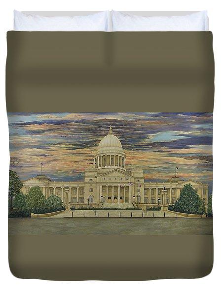Arkansas State Capitol Duvet Cover