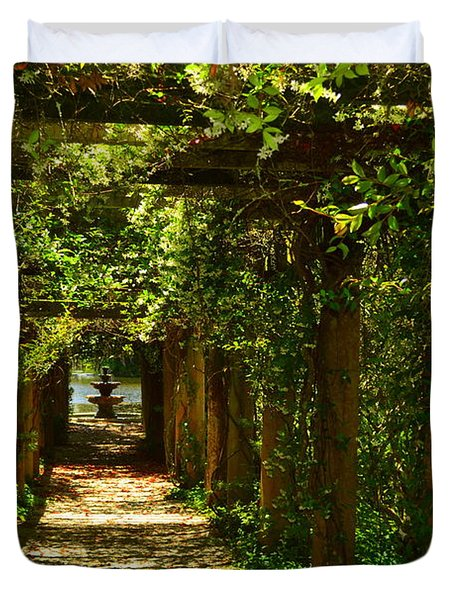 Arlie Italian Pergola Garden Duvet Cover