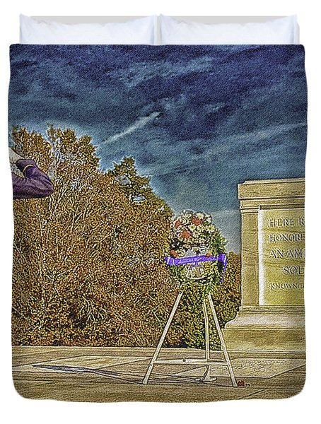Arlington Cemetery Tomb Of The Unknowns Duvet Cover