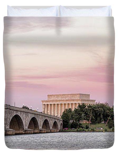 Arlington Memorial Bridge With Lincoln Duvet Cover