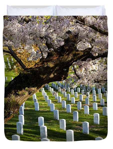 Duvet Cover featuring the photograph Arlington National Cemetary by Brian Jannsen