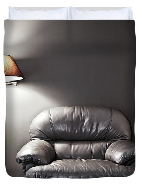 Armchair And Floor Lamp Duvet Cover by Elena Elisseeva