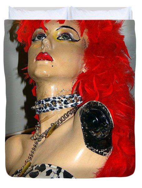 Armless Redhead Duvet Cover by Ed Weidman