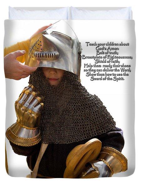 Armor Of God Duvet Cover