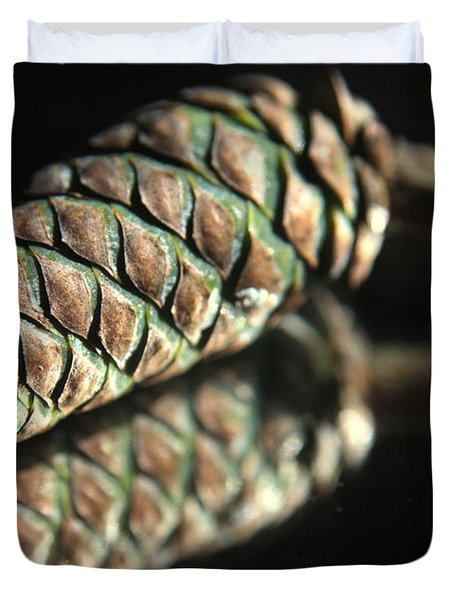 Armored Pine Cone Duvet Cover