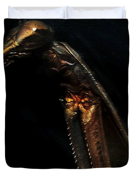 Armored Praying Mantis Duvet Cover