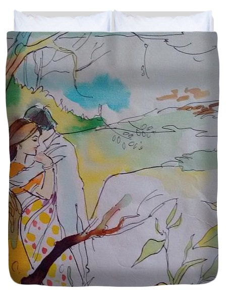 Arms Duvet Cover by Chintaman Rudra