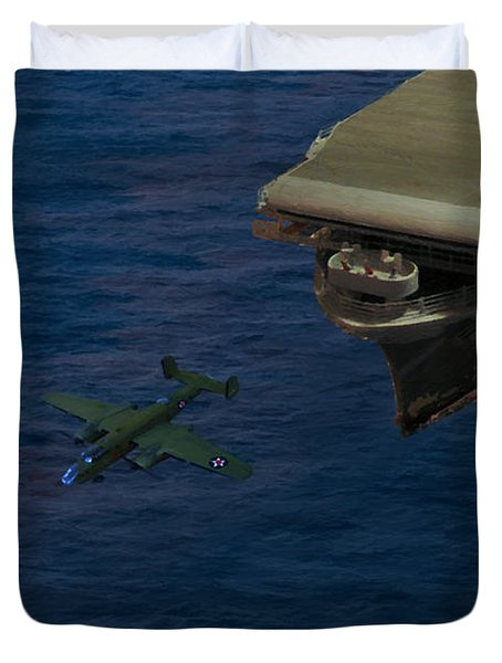 Army Pilots Man Your Planes Duvet Cover