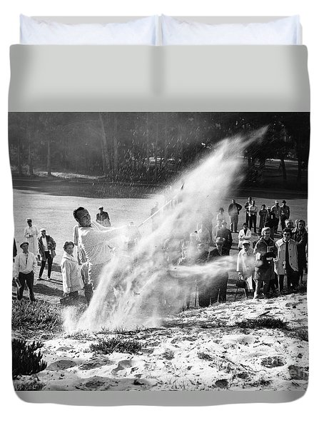 Arnold Palmer At Pebble Beach California Rey Ruppel Photo Circa 1955 Duvet Cover