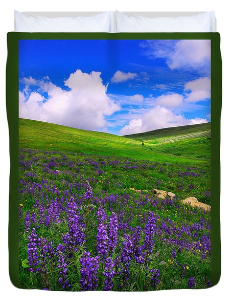 Aroma Of Summer Duvet Cover by Kadek Susanto