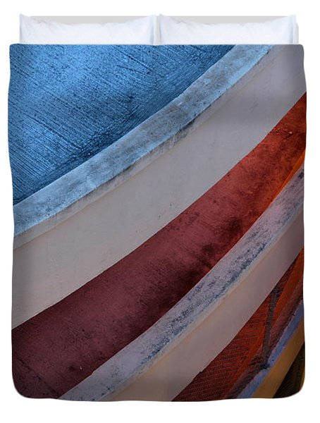 Duvet Cover featuring the photograph Around And Down by Greg Allore