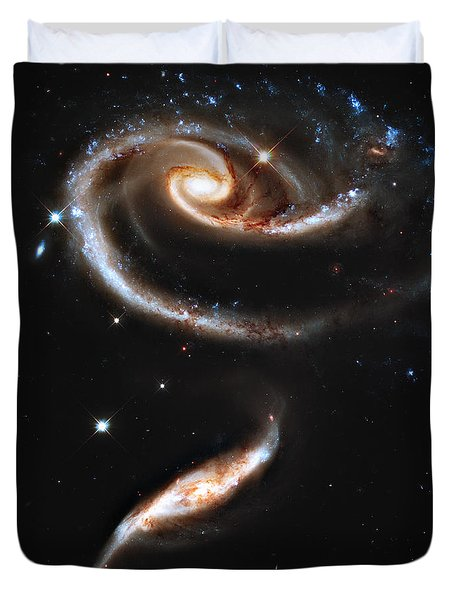 Arp 273 Rose Galaxies Duvet Cover