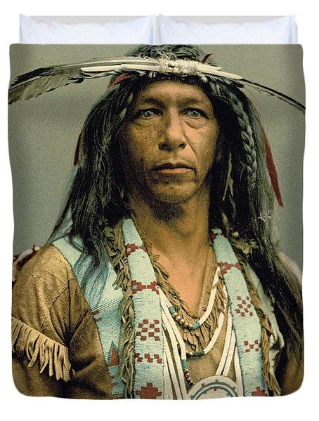 Arrowmaker, An Ojibwa Brave Duvet Cover