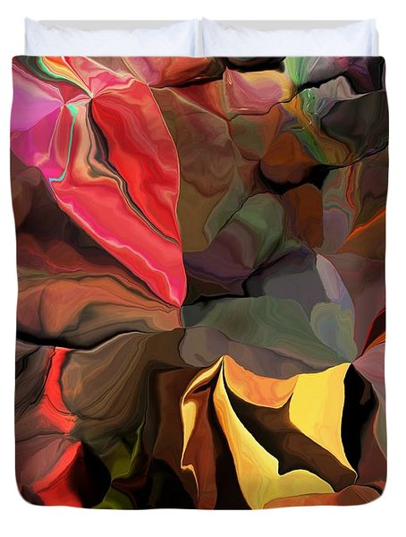 Duvet Cover featuring the digital art Arroyo  by David Lane
