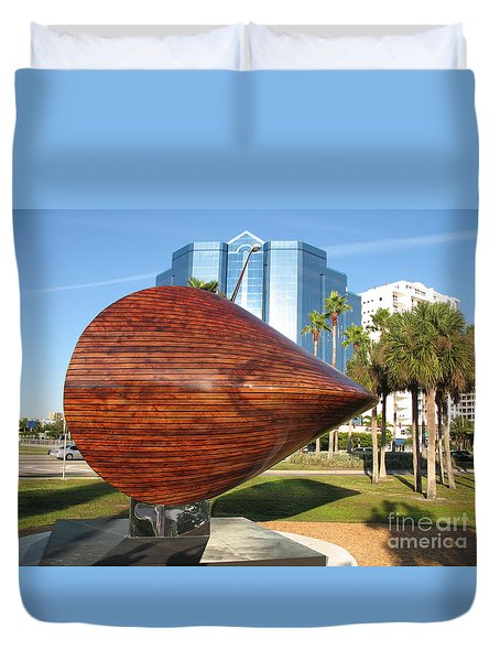 Duvet Cover featuring the photograph Art 2009 At Sarasota Waterfront by Christiane Schulze Art And Photography